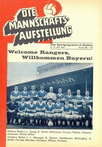 Stadium Edition Programme: Bayern Munchen v Rangers