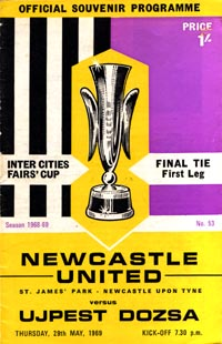 Newcastle United v Ujpest Dozsa