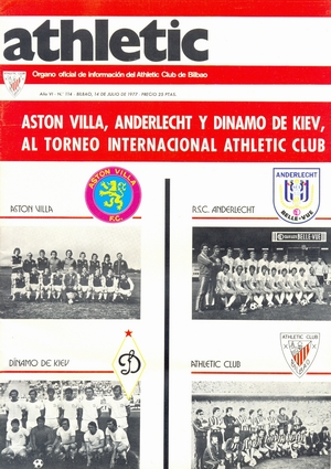 Клубный журнал 'Athletic' (№114, июль 1977)