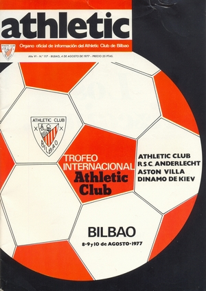 Клубный журнал 'Athletic' (№117, август 1977)