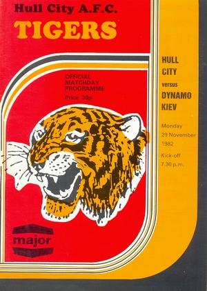 "29 ноября 1982г. ""Халл Сити"" (Англия) vs. ""Динамо"" (Киев)"