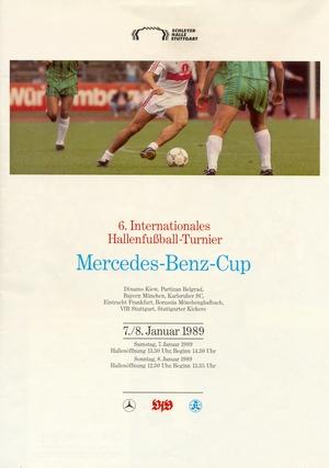 """7-8 января 1989г.  Международный турнир по мини-футболу """"Mercedes Benz Cup `89"""""""