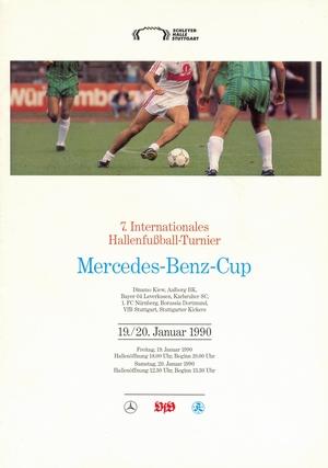 """19-20 января 1990г.  Международный турнир по мини-футболу """"7.Internationales HT Mercedes-Benz Cup""""."""