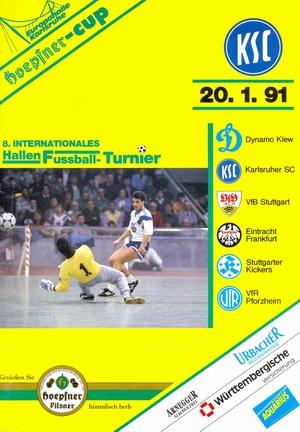 """20 января 1991г.  Международный турнир по мини-футболу 8.International hallen-fussballturnier um den """"Hoepfner-Cup""""."""
