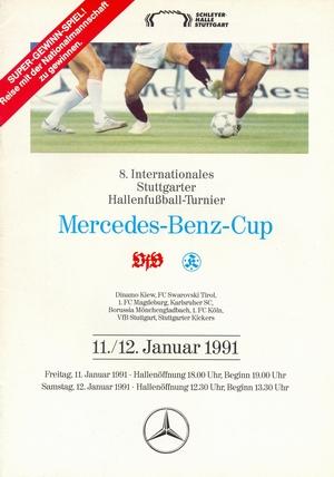 """11 -12 января 1991г.  Международный турнир по мини-футболу """"8.Internationales HT Mercedes-Benz Cup""""."""