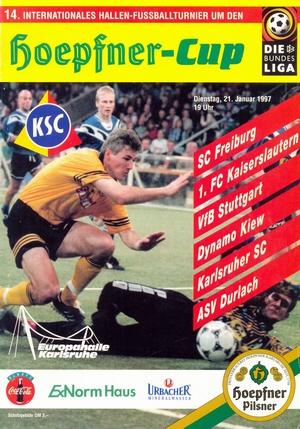 """21 января 1997г.  Международный турнир по мини-футболу 14.International hallen-fussballturnier um den """"Hoepfner-Cup""""."""