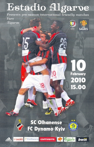 """SC Olhanense"" vs. ""Динамо"" (Киев)  10/02/2010"