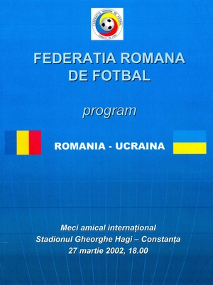 Pirate programme: 27/03/2002 Romania vs. Ukraine
