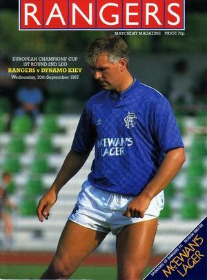 Rangers vs. Dynamo Kiev 30/09/1987