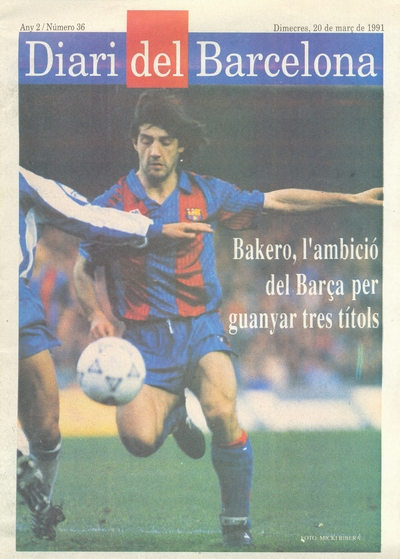 Official match programme (Diari del Barcelona issue)