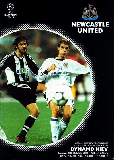Newcastle United vs. Dynamo Kiev 29/10/2002